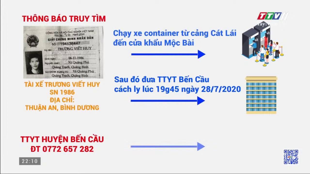 THÔNG BÁO TRUY TÌM🦠🦠🦠🧟♂️ Tài xế TRƯƠNG VIẾT HUY   Thông tin dịch cúm Covid-19   TayNinhTV