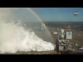 NASA's RS 25 Engine Test with Rainbow View