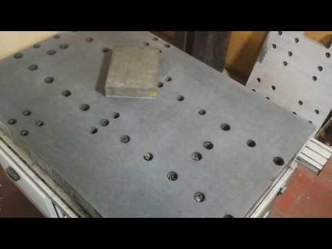 Granite machine table surface flatness