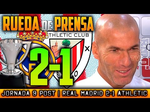 Rueda de prensa Real Madrid 2-1 Athletic Bilbao   RDP POST JORNADA 09