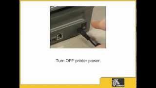 Zebra GK420d Desktop Printer kabels aansluiten