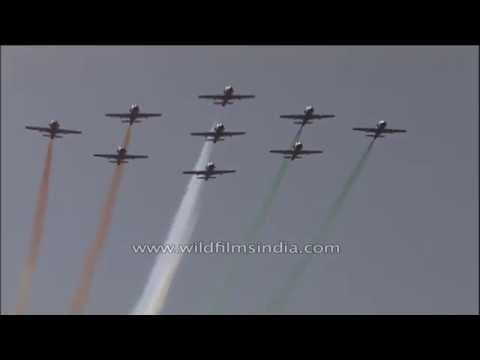 Indian Air Force aerobatic team of Surya Kiran aircraft