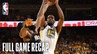ROCKETS vs WARRIORS | Kevin Durant Continues Stellar Scoring  | Game 1