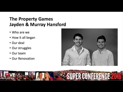 I Love Real Estate Super Conference 2016 Property Games Jayden and Murray
