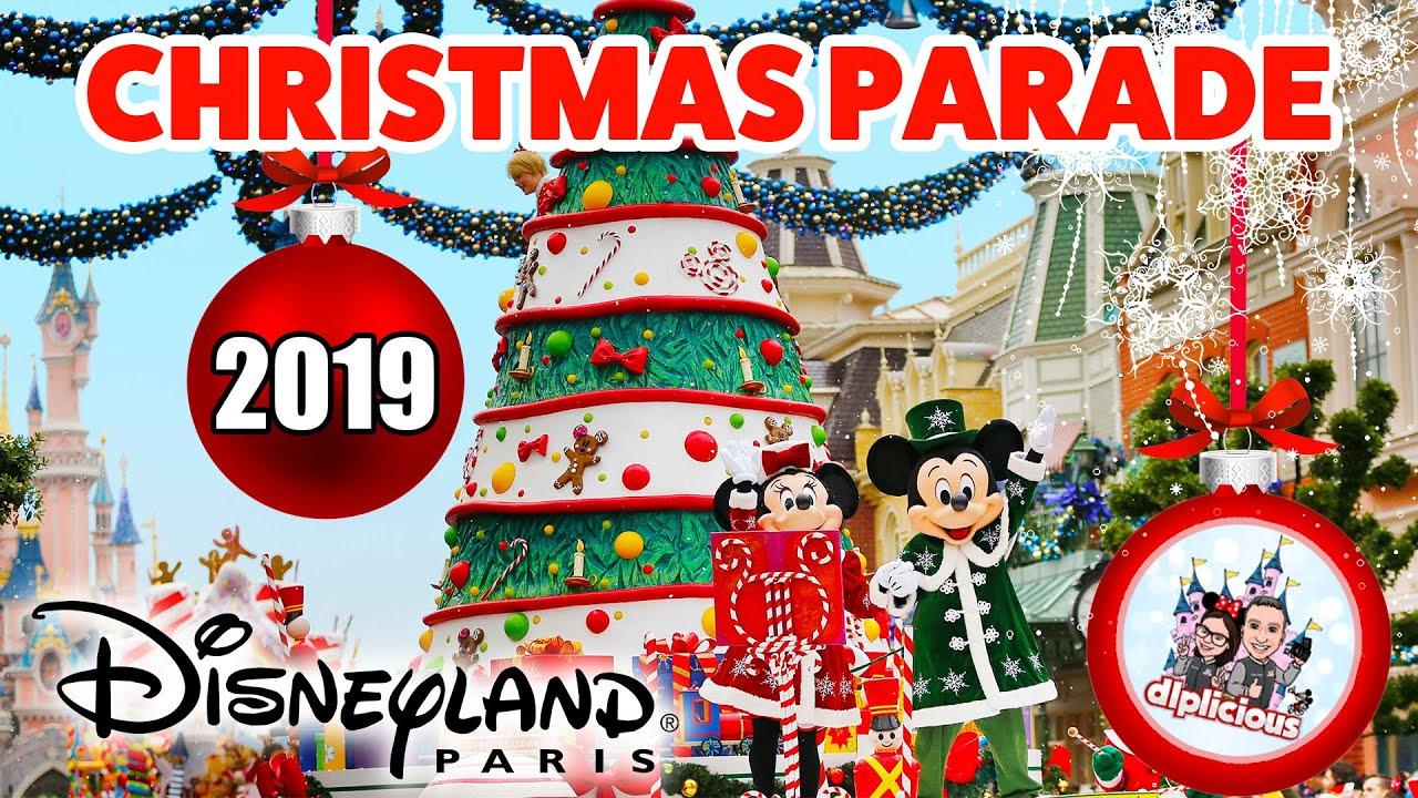 First Disney's Christmas Parade 2019 at Disneyland Paris - YouTube