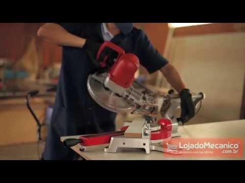 Serra Esquadria 10 Pol. com Mira Laser e Braço Telescópico 2000W BR MOTORS - Loja do Mecânico