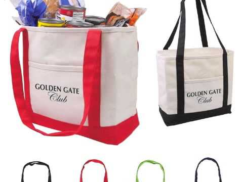 Custom Printed Customized Cotton Canvas Boat Tote Bags