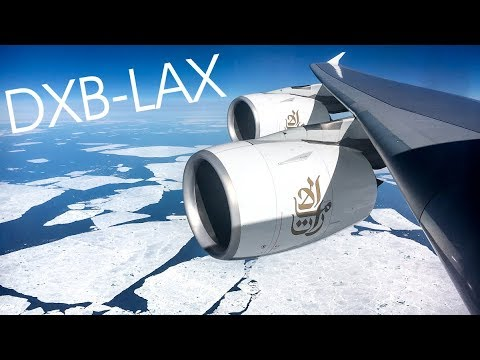 POLAR ROUTE Emirates Dubai-LAX   Airbus A380-800 (A6-EOL) *60FPS*