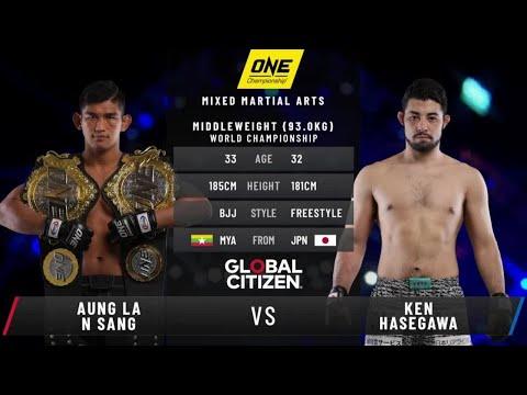 Aung La N Sang vs. Ken Hasegawa II   ONE: BATTLEGROUND Fight Replay
