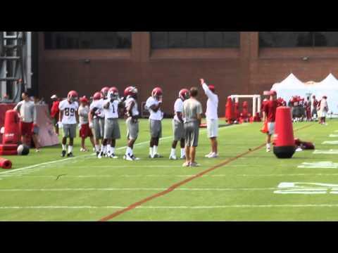 Alabama Football Practice - Wide Receiver Drills
