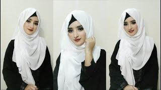 How to:Hijab Style with Abaya/Borkha হিজাব টিউটোরিয়াল  Eshrat Jahan 2021 ❤️