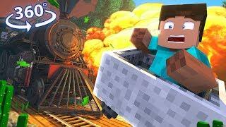 Escape A Runaway Train In 360° Vr - A Minecraft Vr Video