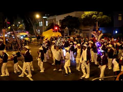 """""""Young Men"""" Cape Malay Choir Cape Town New Years Eve Street Party 2017  Wale street  Bo-Kaap"""