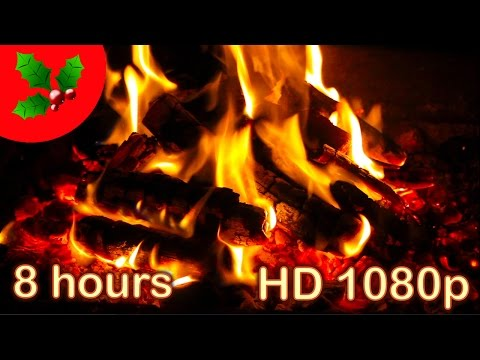 ☆ 8 HOURS ☆ CHRISTMAS MUSIC with FIREPLACE ♫ Christmas PIANO ☆ Christmas Music Instrumental Songs