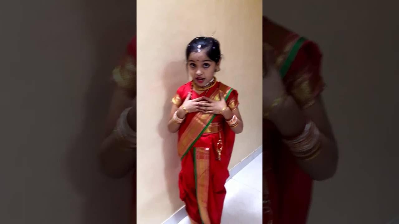 Fancy Dress Competition Maharashtrian Marathi Girl Youtube
