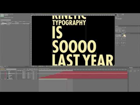 Kinetic Typography Tutorial