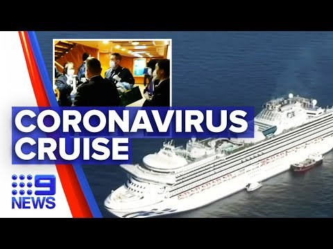 Two Aussies infected by coronavirus on cruise ship in Japan | Nine News Australia