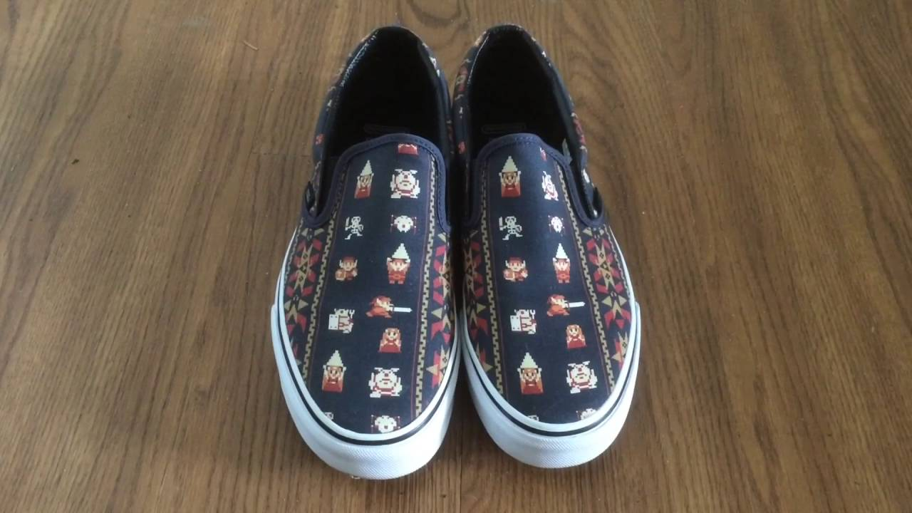 883ed854c3 Vans X Nintendo Zelda Classic Slip-Ons Review and On Feet - YouTube