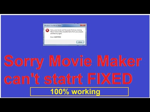 sorry, Movie maker can't start.