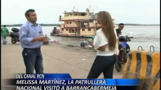 Melissa Martínez, La patrullera nacional del canal RCN visitó a Barrancabermeja.avi