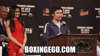 MANNY PACQUIAO SAYS BRONER FIGHT NOT PERSONAL JUST BUSINESS