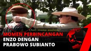 Viral! Sambil Rapikan Kerah Baju, Prabowo Ajak Berbincang dengan Enzo | tvOne