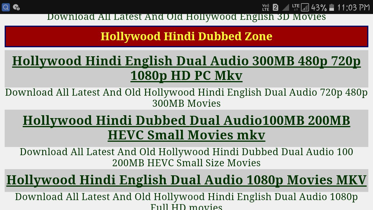 How to download bollywood/hollywood any movies for free in hindi