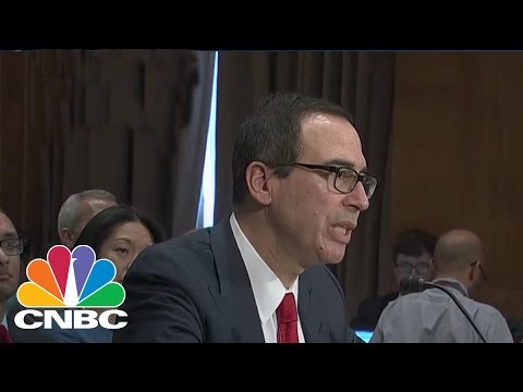 Elizabeth Warren And Treasury Secretary Steve Mnuchin Spar Over Glass-Steagall | CNBC