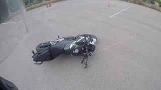Crashing a bike in under a minute – Episode 1 (Honda CB500F)