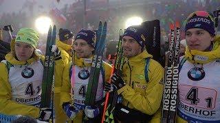 #OBE18 Team Sweden thrilled after men's relay win