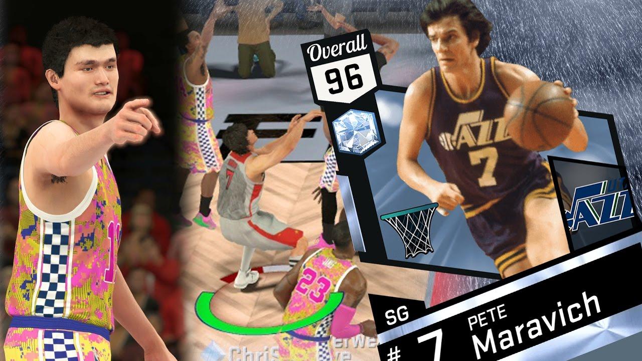NBA 2K17 My Team Diamond Pete Maravich Won t Miss PS4 Pro 4K