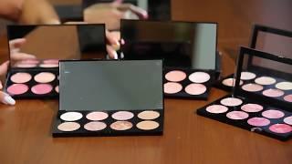 Обучение использования палеток Makeup Revolution. Как правильно разобраться в оттенках теней.
