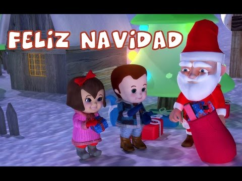 Feliz Navidad With Lyrics | Popular Christmas Carols For The Tiny Tots
