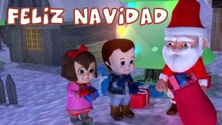Feliz Navidad  - Christmas Carols With Lyrics For Kids