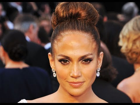 Jennifer Lopez Oscars Hair Tutorial: High Bun Updo - YouTube
