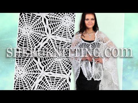 Crochet Spider Shawl Patterns Model 8 Free Patterns Youtube