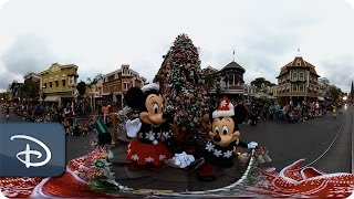 360 Video A Christmas Fantasy Parade  Disneyland Resort