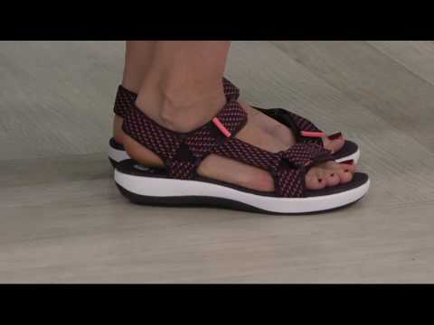 Clarks Cloud Steppers Adjustable Sport Sandals - Brizo Cady On QVC