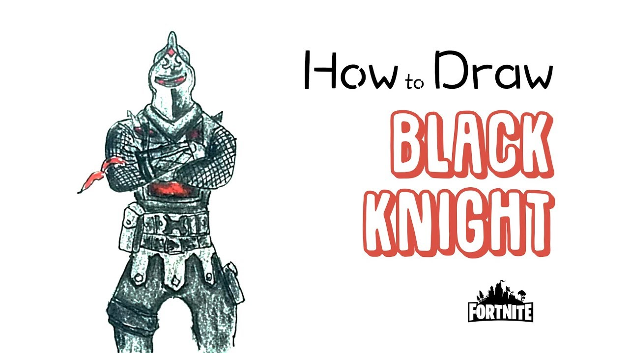 How To Draw The Black Knight From Fortnite Youtube