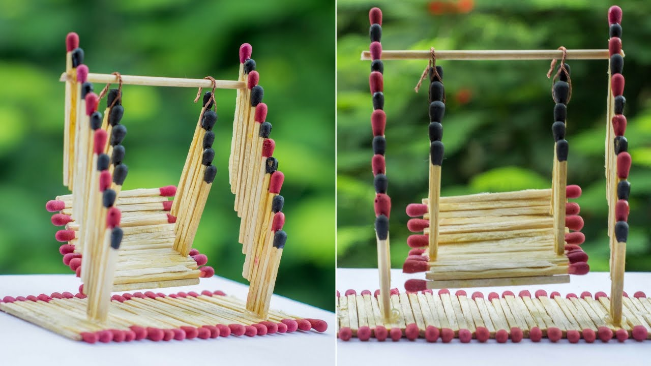 Matchstick Art And Craft Ideas How To Make Matchstick Miniature