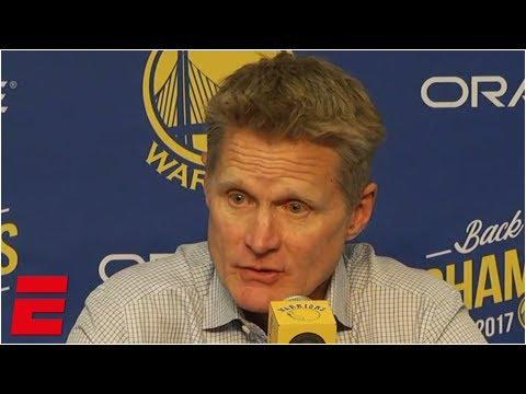 Warriors had 'mindless intent,' lacked focus in loss to Bucks - Steve Kerr   NBA Sound