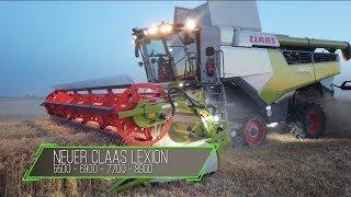 Neuer CLAAS LEXION im Einsatz bei Nacht / 5500 - 6900 - 7700 - 8900 / Mähdrescher ab 2020 lieferbar