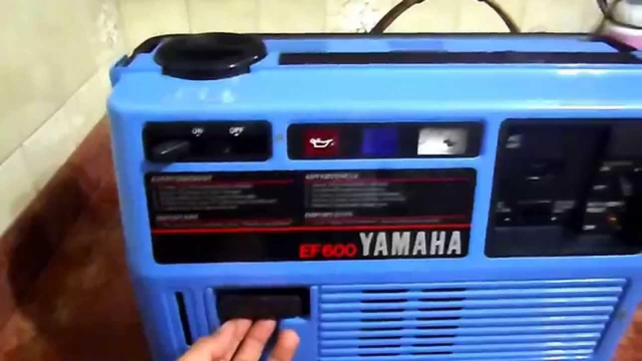 Planta el ctrica yamaha ef 600 youtube for Ef600 yamaha generator