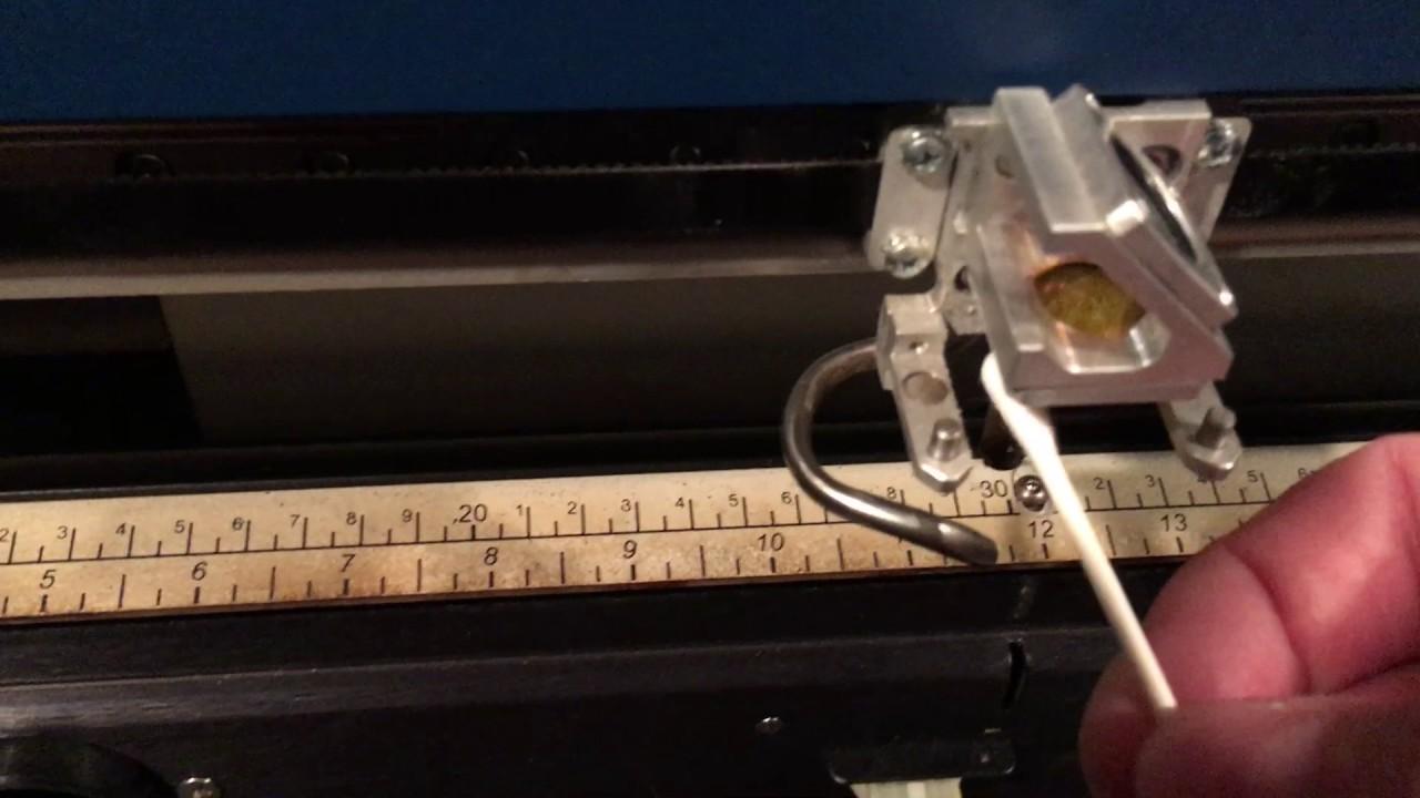 Cleaning Lens on Epilog mini laser