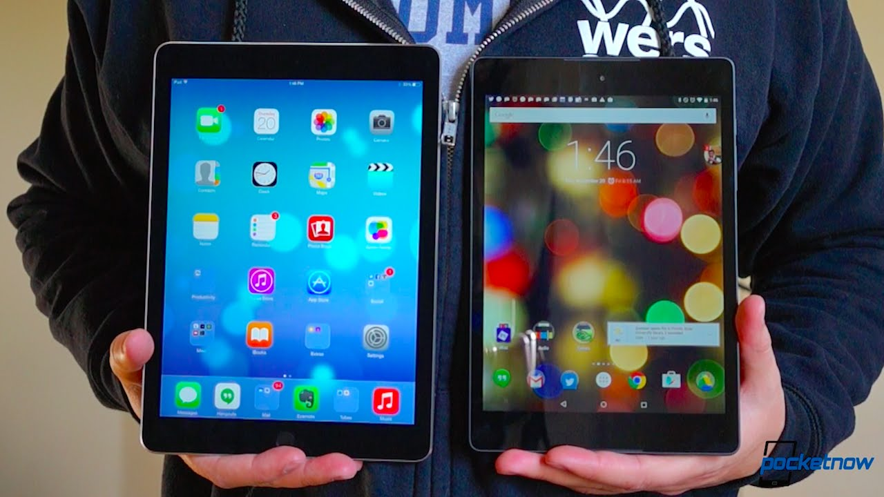 ipad air 2 vs nexus 9 not much of a showdown   youtube
