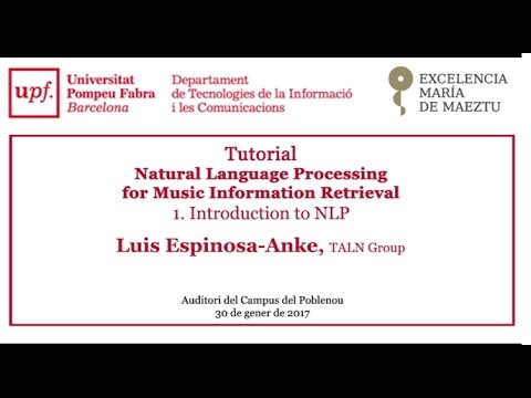 Tutorial - Natural Language Processing for Music Information Retrieval. Introduction to NLP
