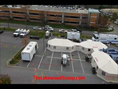 EMS Task Force Mobile Hospital At Ocean Medical Center Following Hurricane Sandy