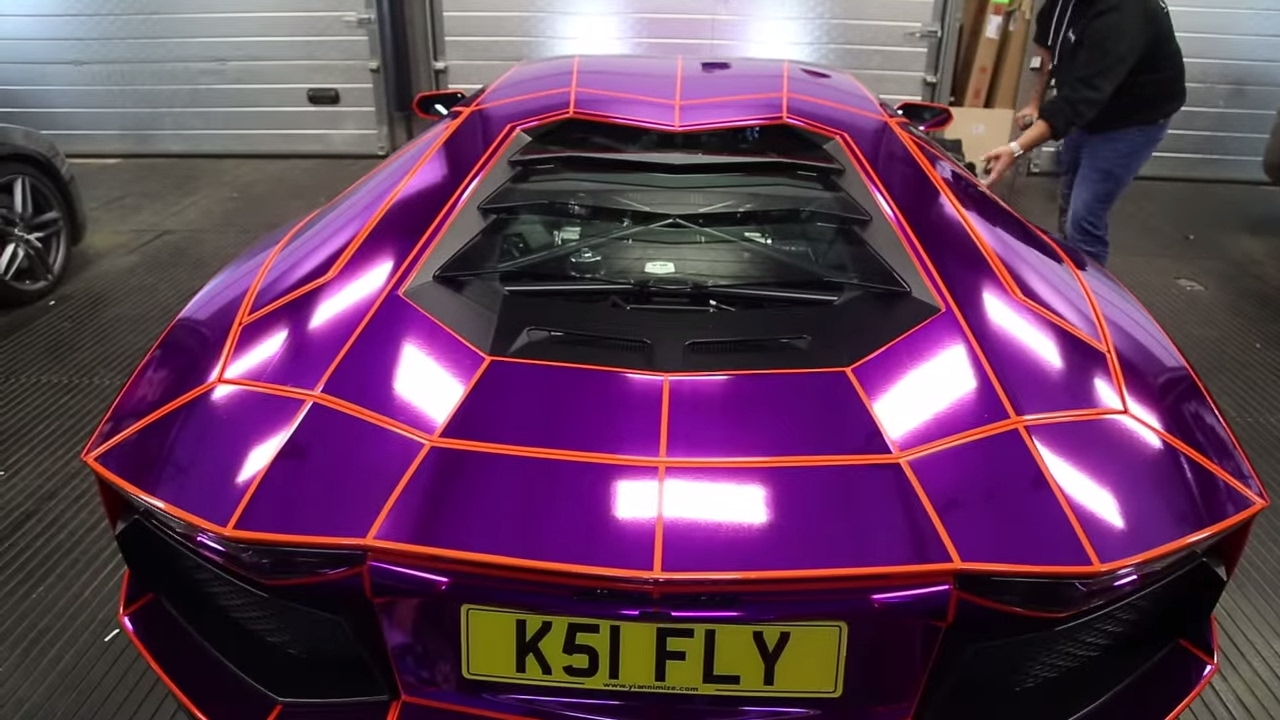Ksi Reaction Of His Purple Lamborghini Aventador Wrap Part 2 Youtube