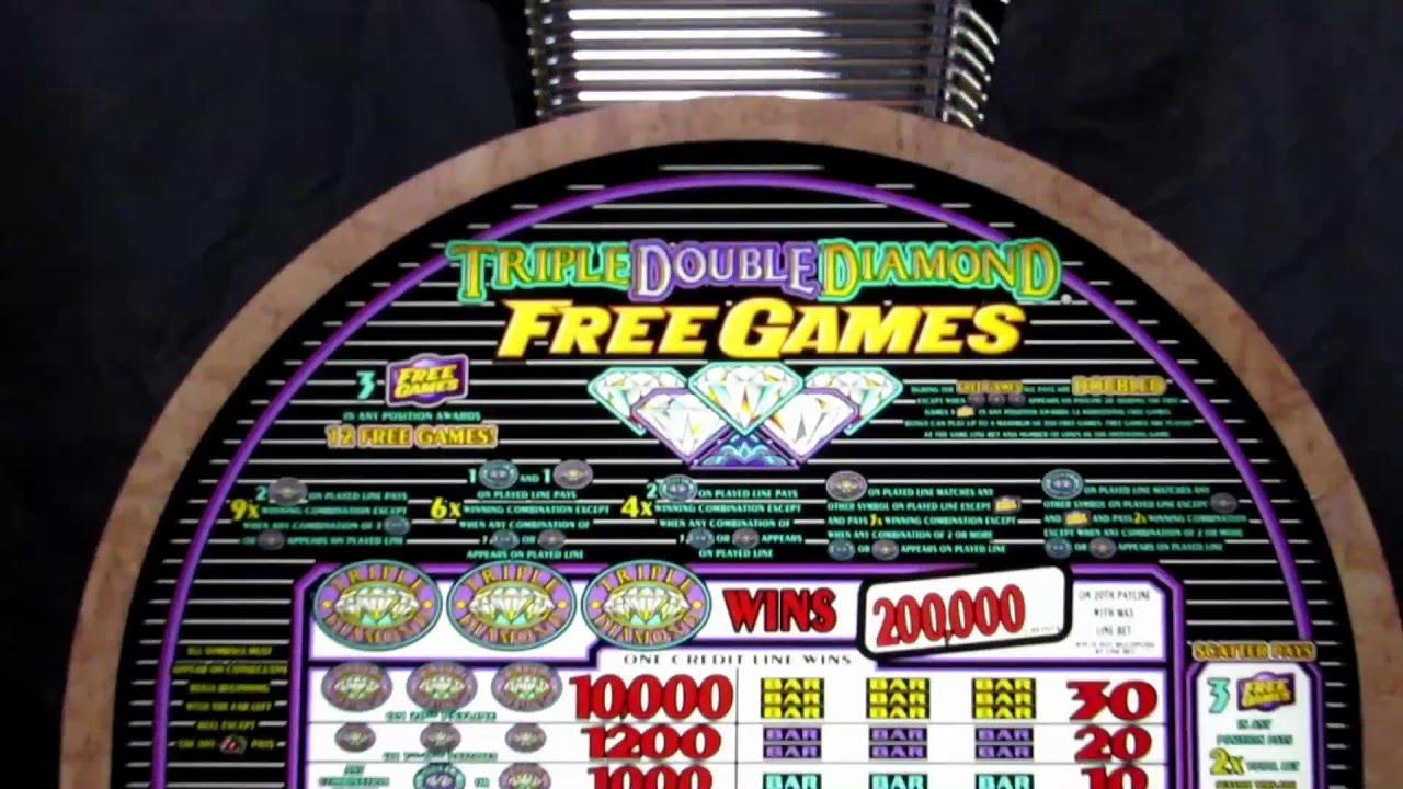 free double diamond slot machine games