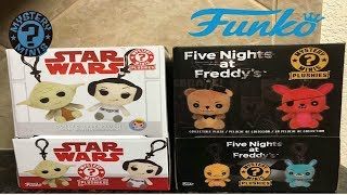 Funko Mystery Mini Star Wars and FNAF Hangers! So many bags!!!!